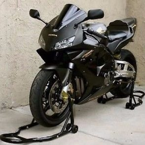 Racing-black-bike-on-the-tracks