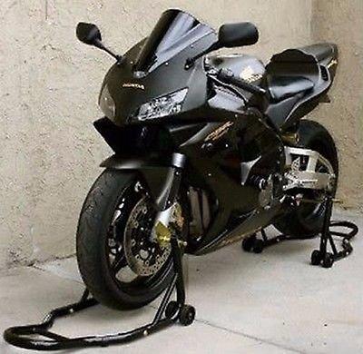 Racing-black-bike-on-the-tracks