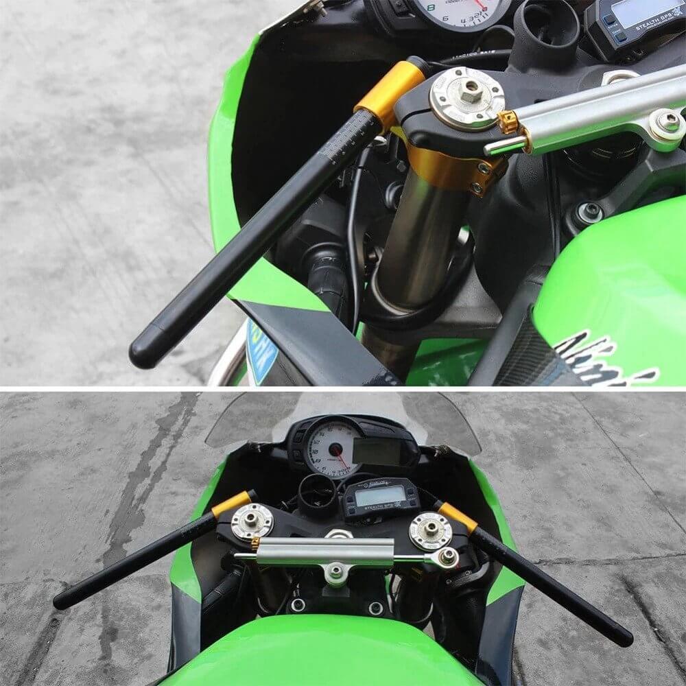 37mm Black Riser Clip on ons /& handle bar For BMW S1000 RR 2009-2014 S1000RR