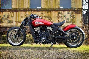 #Indian #Red #Motorcycle